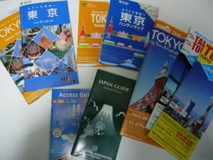 一日観光バスツアーと東京マップ