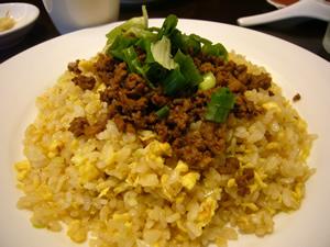 挽肉の炒飯