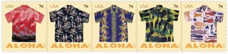 アロハシャツ記念切手 (c) USPS