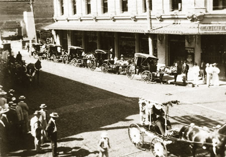 Downtownには馬車, State Archives, HonoluluMagazin.Com
