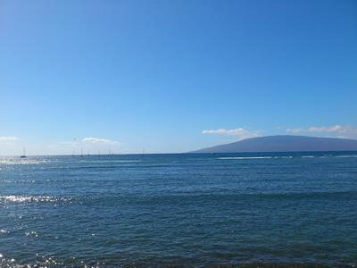 ラハイナから見るキラキラの海