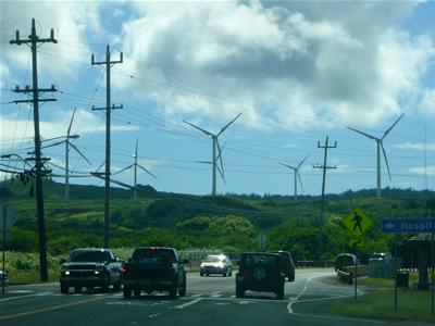 Kahukuの風力発電所