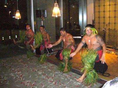 サモアの伝統の踊り