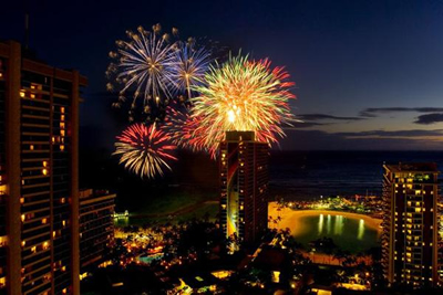 The Hilton fireworks, c/o Pacific Business News