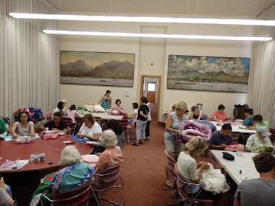 ポアカラニのハワイアンキルトのコミュニティー