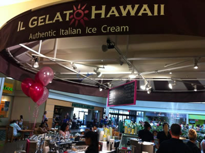 カハラモールにオープンしたIl Gelato Hawaii