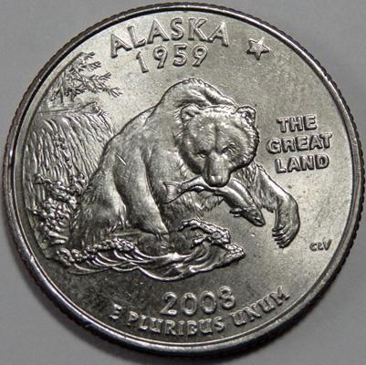 最後の1枚となった、アラスカ州の記念硬貨