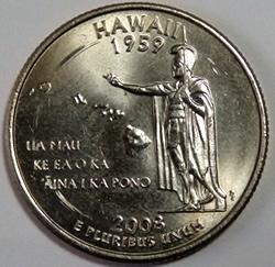 ハワイ州の25セント記念硬貨