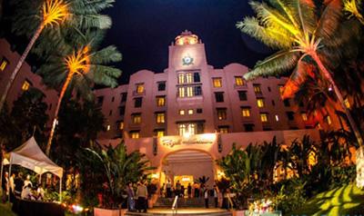 会場のロイヤル・ハワイアン・ホテル, (C) HonoluluMagazine.Com