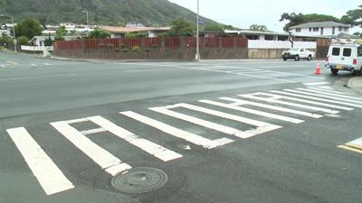 ALOHA crosswalk, (C) khon2