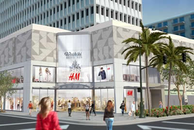 Rendering of H&M's store in Waikiki, Courtesy H&M