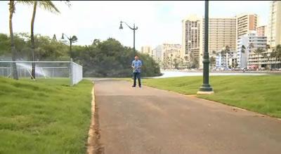 アワライ運河の遊歩道, (C) Hawaii News Now