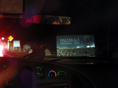 ハレアカラ国立公園入り口