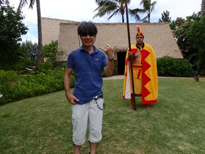 大王と記念写真