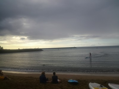 黄昏 ハレイワビーチ