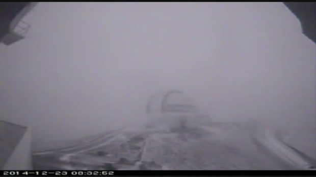 Mauna Kea山頂の吹雪, c/o KITV4