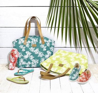 "Hawaii tote bag and ""Fierce Hawaii Sneakers"" for women at right., Courtesy Ugg"