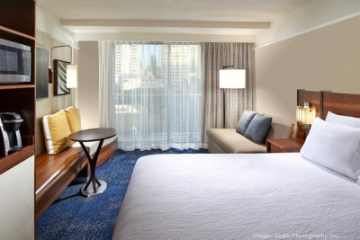 Rendering of a guestroom, Courtesy Hilton Worldwide c/o PBN