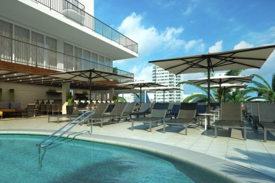 Rendering of the pool, Courtesy Hilton Worldwide c/o PBN