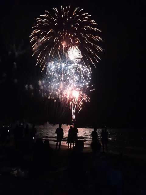 独立記念日のカイルアビーチ