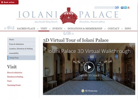 3D Virtual Tour of Iolani Palace