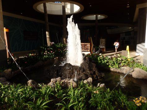 入り口にある噴水