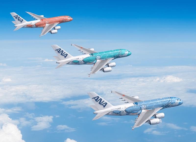 エアバスA380型機「FLYING HONU」
