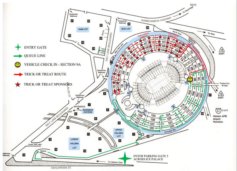 ドライブスルーハロウィンのルートマップ